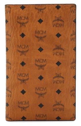 Женские обложка для паспорта MCM коричневого цвета, арт. MYV 8SVI50 | Фото 1