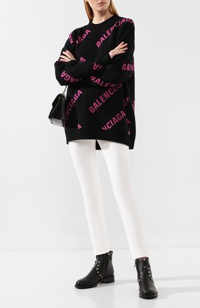 Женские кожаные ботинки valentino garavani rockstud VALENTINO черного цвета, арт. SW2S0I57/XHQ | Фото 2