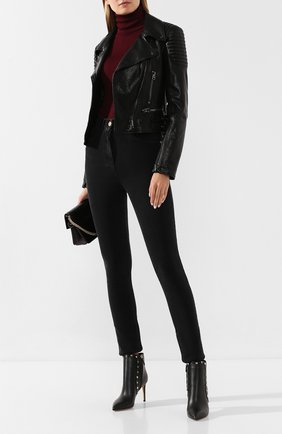 Женские кожаные ботильоны valentino garavani rockstud VALENTINO черного цвета, арт. SW0S0I62/VXS | Фото 2