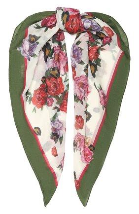 Женский кашемировый платок ESCADA белого цвета, арт. 5031388 | Фото 1