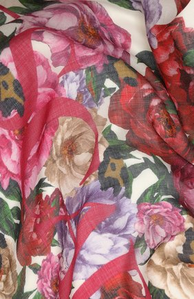 Женский кашемировый платок ESCADA белого цвета, арт. 5031388 | Фото 2