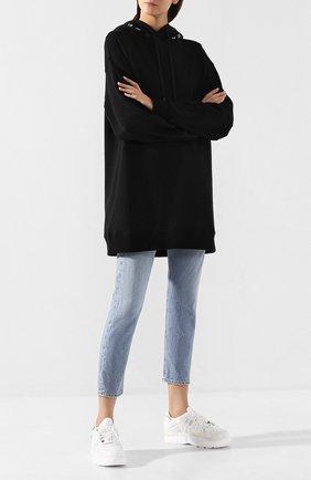 Женские кожаные кроссовки fusion MAISON MARGIELA белого цвета, арт. S58WS0118/P2695 | Фото 2