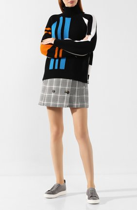 Женские кожаные кеды SANTONI серого цвета, арт. WBCE60447BARRSSEG50 | Фото 2