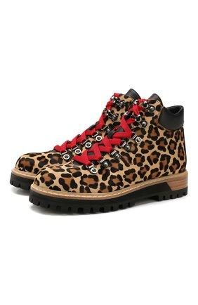 Женские кожаные ботинки LE SILLA леопардового цвета, арт. 7504P040M1PPNAI | Фото 1