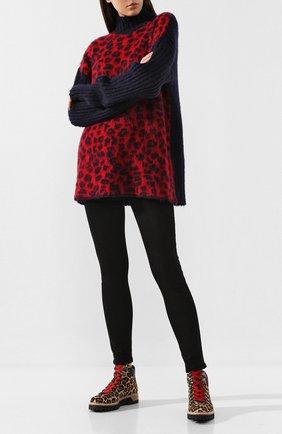 Женские кожаные ботинки LE SILLA леопардового цвета, арт. 7504P040M1PPNAI | Фото 2