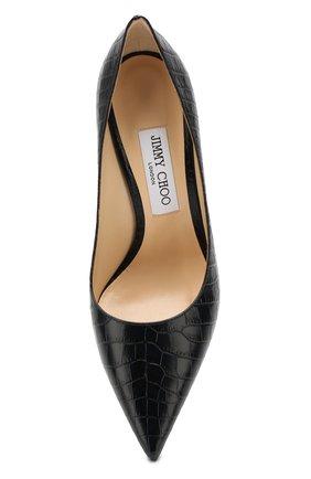 Женские кожаные туфли love 100 JIMMY CHOO темно-синего цвета, арт. L0VE 100/CCL   Фото 5