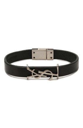 Женский кожаный браслет SAINT LAURENT черного цвета, арт. 559355/0IH0E | Фото 1