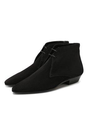 Женские замшевые ботинки jonas SAINT LAURENT черного цвета, арт. 581845/0LI00 | Фото 1