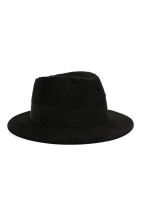 Женская фетровая шляпа SAINT LAURENT черного цвета, арт. 580332/3YA58 | Фото 1