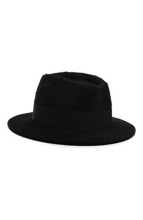 Женская фетровая шляпа SAINT LAURENT черного цвета, арт. 580332/3YA58 | Фото 2