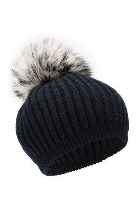 Женский кашемировая шапка INVERNI темно-синего цвета, арт. 0250CMG2 | Фото 1