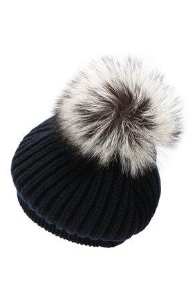 Женский кашемировая шапка INVERNI темно-синего цвета, арт. 0250CMG2 | Фото 2