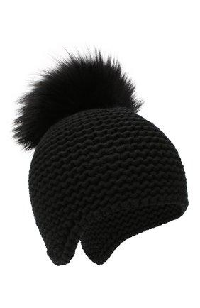 Женский кашемировая шапка INVERNI черного цвета, арт. 1547CM | Фото 1