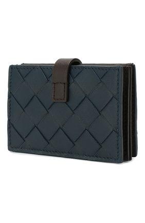 Женский кожаный футляр для кредитных карт BOTTEGA VENETA синего цвета, арт. 592776/V00BM | Фото 2