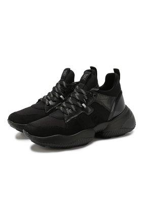 Женские комбинированные кроссовки HOGAN черного цвета, арт. GYW4870CH20ML7 | Фото 1