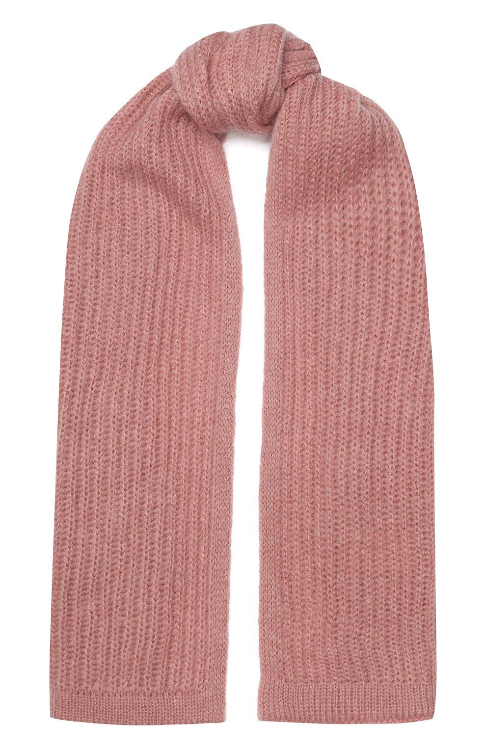 Женский шерстяной шарф TAK.ORI розового цвета, арт. AC105MW018PF17 | Фото 1 (Материал: Текстиль, Шерсть, Синтетический материал; Статус проверки: Проверена категория)
