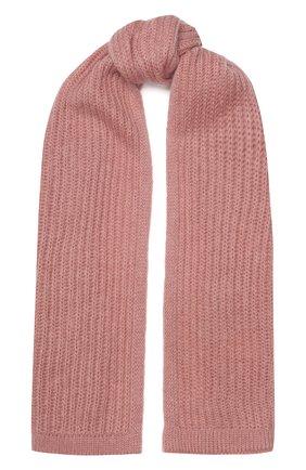 Женский шерстяной шарф TAK.ORI розового цвета, арт. AC105MW018PF17 | Фото 1