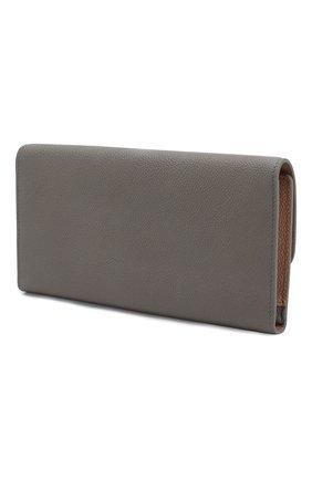 Женские кожаный футляр для документов TOD'S серого цвета, арт. XAWSELB3601WEB | Фото 2
