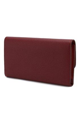 Женские кожаный футляр для документов TOD'S бордового цвета, арт. XAWSELB3601WEB | Фото 2