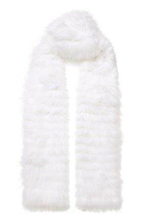 Мужские шарф из меха лисицы YVES SALOMON белого цвета, арт. 20WAA521XXW0LW | Фото 1
