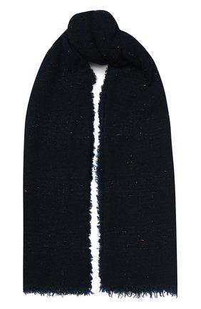 Мужские шерстяной шарф FALIERO SARTI темно-синего цвета, арт. I20 2180 | Фото 1