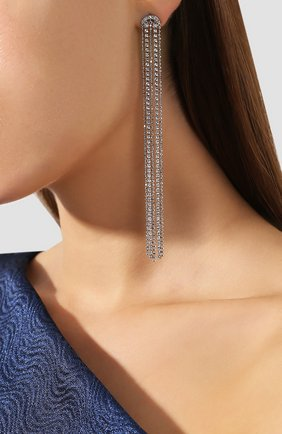 Женские серьги fit SWAROVSKI серебряного цвета, арт. 5490190   Фото 2