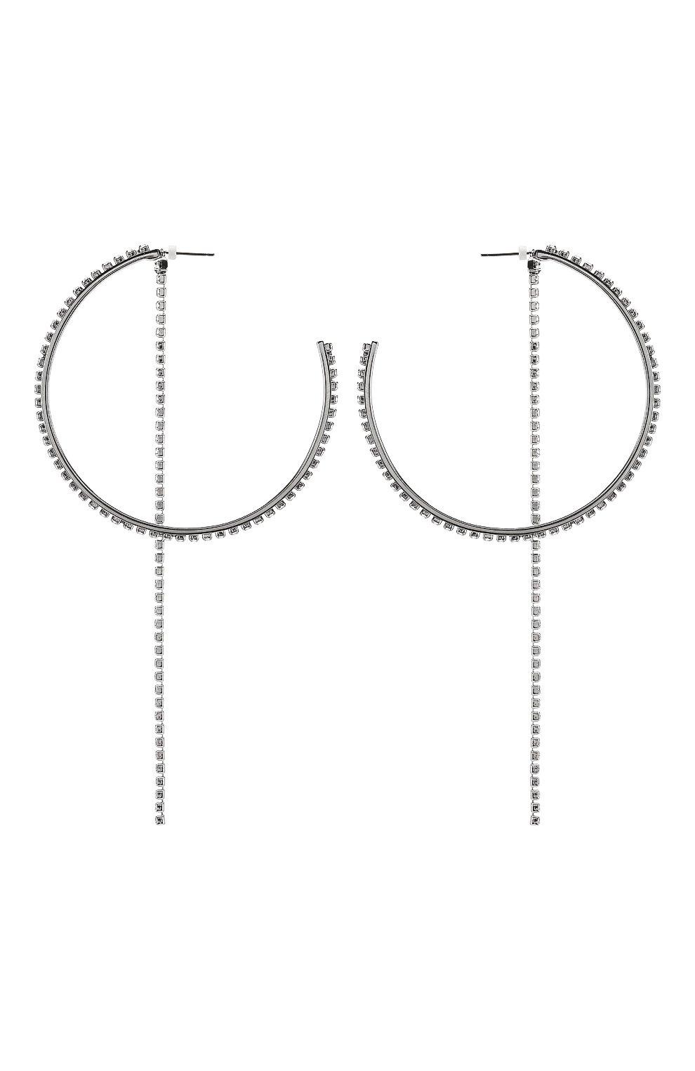 Женские серьги fit SWAROVSKI серебряного цвета, арт. 5504570   Фото 1