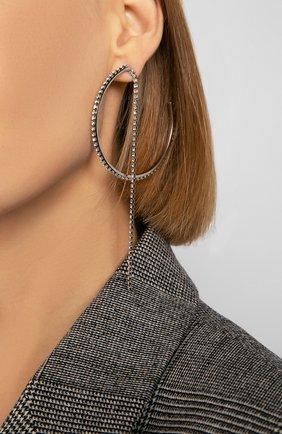 Женские серьги fit SWAROVSKI серебряного цвета, арт. 5504570   Фото 2