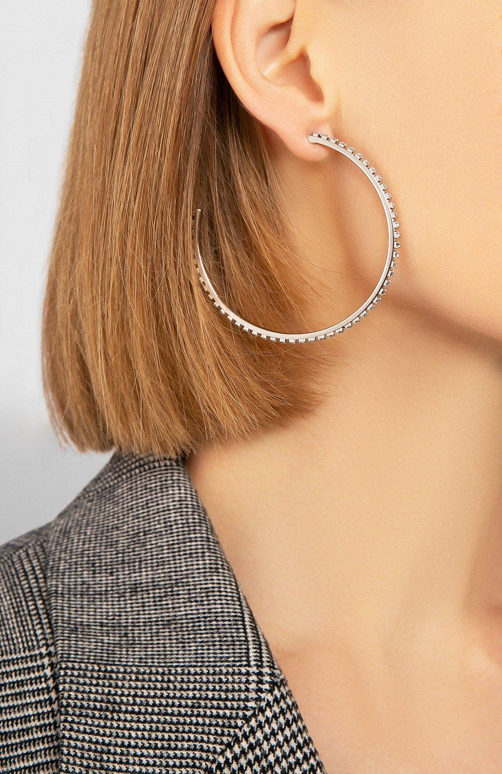 Женские серьги fit SWAROVSKI серебряного цвета, арт. 5504570   Фото 4