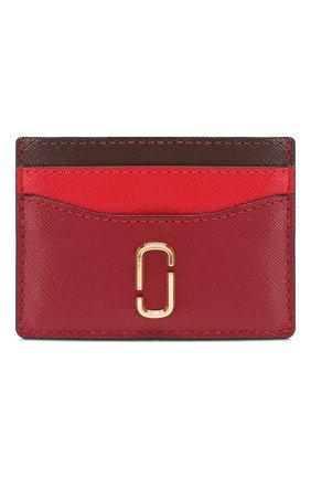 Женский кожаный футляр для кредитных карт MARC JACOBS (THE) бордового цвета, арт. M0013355 | Фото 1
