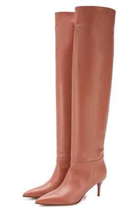 Женские кожаные сапоги LE SILLA светло-розового цвета, арт. 2153M060R1PPMIN | Фото 1