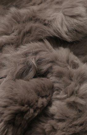 Мужские меховой вязаный шарф YVES SALOMON серого цвета, арт. 9WAA009XXRDLL | Фото 2
