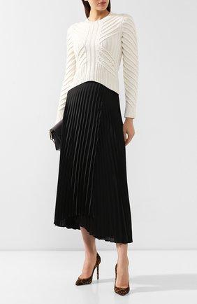 Женская кожаные туфли zoe SAINT LAURENT леопардового цвета, арт. 582301/1FL00 | Фото 2