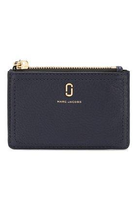 Женский кожаный футляр для кредитных карт MARC JACOBS (THE) темно-синего цвета, арт. M0015123 | Фото 1