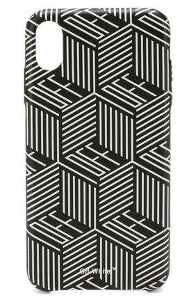 Мужской чехол для iphone xs max OFF-WHITE черно-белого цвета, арт. 0WPA010E19F160781099 | Фото 1