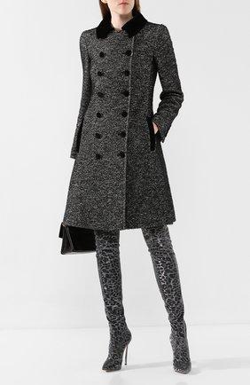 Женские текстильные ботфорты CASADEI серебряного цвета, арт. 1T927N120MT00269202 | Фото 2