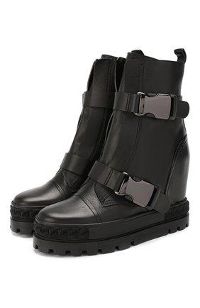Женские кожаные ботинки CASADEI черного цвета, арт. 2R116N080NTANG09000 | Фото 1
