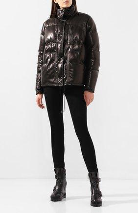 Женские кожаные ботинки CASADEI черного цвета, арт. 2R116N080NTANG09000 | Фото 2