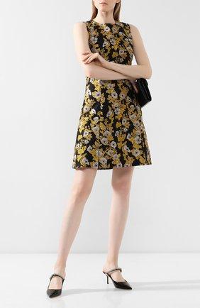 Женские кожаные мюли bing 65 JIMMY CHOO черного цвета, арт. BING 65/PAT | Фото 2