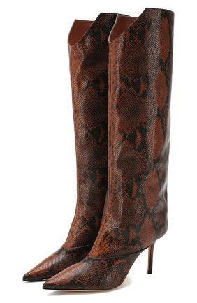 Женские кожаные сапоги brelan 85 JIMMY CHOO коричневого цвета, арт. BRELAN 85/NKE | Фото 1
