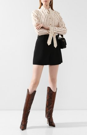Женские кожаные сапоги brelan 85 JIMMY CHOO коричневого цвета, арт. BRELAN 85/NKE | Фото 2