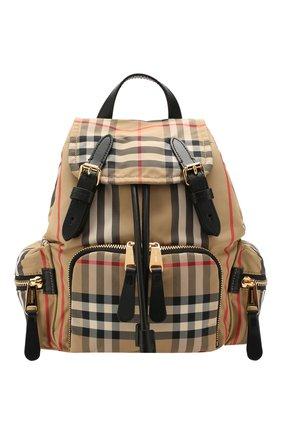 Женский рюкзак rucksack small BURBERRY бежевого цвета, арт. 8017164 | Фото 1