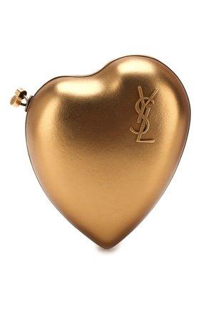 Женский клатч love SAINT LAURENT золотого цвета, арт. 466212/B8B0W | Фото 1