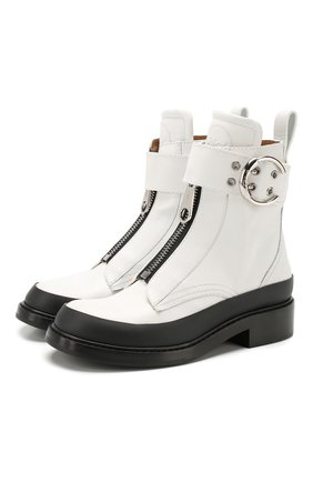 Женские кожаные ботинки roy CHLOÉ белого цвета, арт. CHC19W244G3 | Фото 1