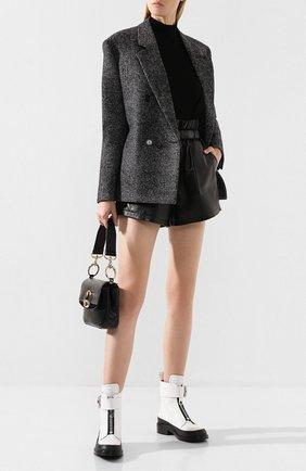 Женские кожаные ботинки roy CHLOÉ белого цвета, арт. CHC19W244G3 | Фото 2