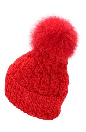Женский шерстяная шапка MONCLER красного цвета, арт. E2-098-00228-10-0402A | Фото 2