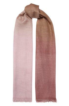 Мужские шарф из смеси кашемира и шелка FALIERO SARTI розового цвета, арт. I20 0254 | Фото 1