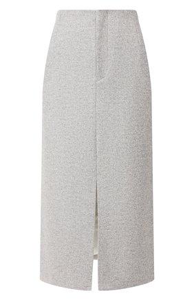 Женская шерстяная юбка JOSEPH серого цвета, арт. JP000758 | Фото 1