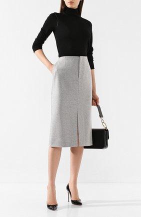Женская шерстяная юбка JOSEPH серого цвета, арт. JP000758 | Фото 2