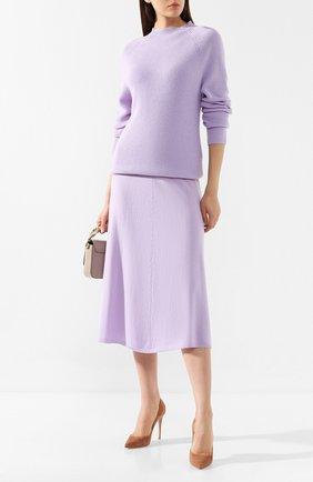 Женская свитер из смеси шерсти и кашемира JOSEPH розового цвета, арт. JF003375 | Фото 2